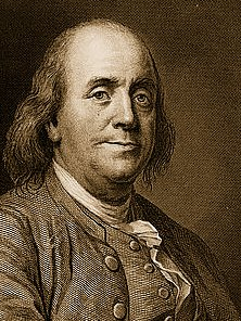 Ben Franklin Patron Saint of Free Universal Education