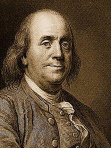 Ben Franklin Patron Saint of Free Universal Education